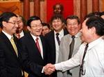 Chủ tịch nước Trương Tấn Sang gặp mặt 100 doanh nhân tiêu biểu