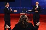 Hình ảnh 'quyết đấu' giữa hai ứng cử viên tổng thống Mỹ