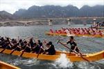 Sơn La: Đua thuyền trên hồ sông Đà