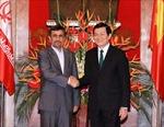 Chủ tịch nước Trương Tấn Sang hội đàm với Tổng thống Iran