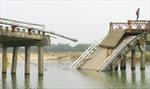 Gẫy hai dầm cầu Đen (Quảng Nam) đang thi công