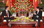 Chủ tịch nước Trương Tấn Sang tiếp Bộ trưởng Ngoại giao Maxêđônia