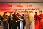 Fubon Life Việt Nam nhận giải thưởng 'Top 100 sản phẩm dịch vụ được Tin & Dùng 2012'