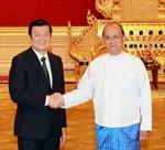 Chủ tịch nước Trương Tấn Sang hội đàm với Tổng thống Mianma U Thein Sein