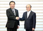 Chủ tịch Quốc hội Nguyễn Sinh Hùng hội kiến Thủ tướng Nhật Bản