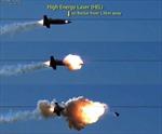 Tia lazer phá hủy tên lửa đang bay