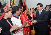 Chủ tịch nước Trương Tấn Sang chúc Tết cộng đồng các dân tộc Việt Nam