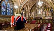 Hình ảnh tang lễ bà Thatcher trước giờ cử hành