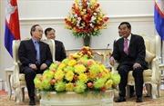 Gặp gỡ Chủ tịch Mặt trận ba nước Campuchia-Việt Nam-Lào