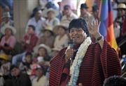 Tổng thống Bolivia được sự ủng hộ cao trong dân chúng