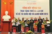 Trao giải thưởng báo chí về đề tài Quốc hội và Hội đồng nhân dân