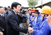 Chủ tịch nước thăm khu công nghiệp hỗ trợ Nam Hà Nội