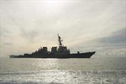 Tàu khu trục lá chắn tên lửa Mỹ cập cảng Tây Ban Nha