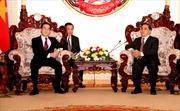 Lãnh đạo Lào tiếp đoàn Kiểm toán Nhà nước Việt Nam