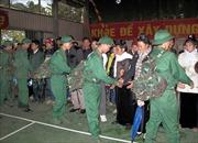 Thanh niên các dân tộc Điện Biên hăng hái lên đường nhập ngũ