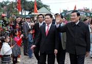 Chủ tịch nước thăm xã văn hóa đầu tiên của tỉnh Nghệ An