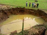Sụt đất ở Hòa Bình là do khai thác nước lớn tầng sâu