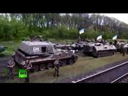 Tàu chở xe tăng, tên lửa Ukraine rầm rập tiến về Slavyansk