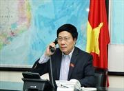 Phó Thủ tướng Phạm Bình Minh điện đàm với Ngoại trưởng Mỹ về Biển Đông