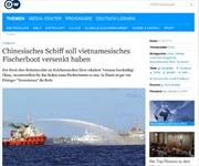 Báo Đức tố cáo Trung Quốc đâm chìm tàu cá Việt Nam