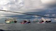 Cận cảnh tàu Trung Quốc đâm chìm tàu cá Việt Nam