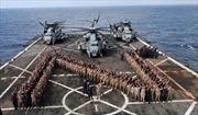 Tàu Mỹ chở 550 lính thủy đánh bộ vào Vùng Vịnh