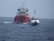 Tàu hộ tống Trung Quốc thay đổi đội hình liên tiếp