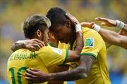 Neymar ghi bàn thắng 100 của World Cup 2014 trong trận thứ 100 của Brazil