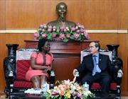 Đồng chí Nguyễn Thiện Nhân tiếp Giám đốc quốc gia WB tại Việt Nam