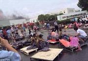 Hiện trường thảm khốc vụ nổ nhà máy ở Trung Quốc