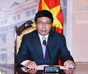 Phó Thủ tướng Phạm Bình Minh hội đàm với Ngoại trưởng Triều Tiên