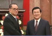 Chủ tịch nước Trương Tấn Sang tiếp Bộ trưởng Ngoại giao Triều Tiên