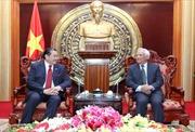 Phó Chủ tịch Quốc hội Uông Chu Lưu tiếp Chủ tịch Hội đồng Hòa bình hòa giải châu Á