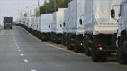Đoàn xe cứu trợ Nga đến biên giới Ukraine
