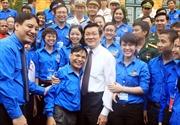 Chủ tịch nước Trương Tấn Sang gặp mặt thanh niên tiêu biểu
