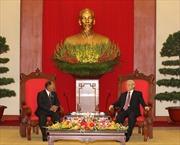 Tổng Bí thư Nguyễn Phú Trọng tiếp Chủ tịch Quốc hội Vương quốc Campuchia