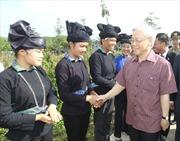 Tổng Bí thư Nguyễn Phú Trọng thăm, làm việc tại Hà Giang