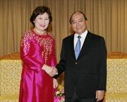 Phó Thủ tướng Nguyễn Xuân Phúc tiếp Giám đốc UNODC tại Việt Nam