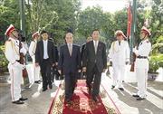 Chủ tịch Quốc hội Nguyễn Sinh Hùng hội đàm với Chủ tịch Quốc hội Myanmar