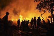 Cháy lớn Công ty sách và thiết bị trường học