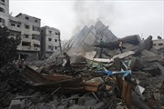 Toàn cảnh thành phố Gaza bị phá hủy