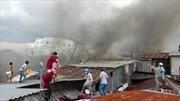 Cháy lớn thiêu rụi 11 căn nhà tại An Giang