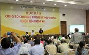Kỳ họp thứ 8, Quốc hội khóa XIII:  Sẽ xem xét, thông qua 18 dự án luật