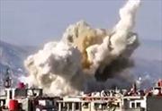 Không quân Syria giã tên lửa xuống Jobar