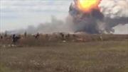 Nhà máy vũ khí nổ đỏ trời Donetsk