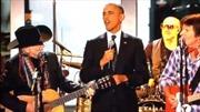 Ông Obama cao hứng biểu diễn nhạc đồng quê