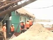 Vụ khai thác cát tại Phúc Thọ: Khởi tố 6 bị can
