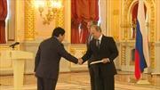 Đại sứ Việt Nam trình quốc thư lên Tổng thống Putin