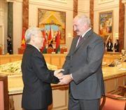 Tổng Bí thư Nguyễn Phú Trọng hội đàm với Tổng thống Cộng hòa Belarus