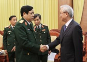 Đại tướng Phùng Quang Thanh tiếp Đại sứ Hàn Quốc